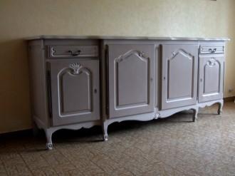 meuble enfilade, buffet rénové, artisan peintre