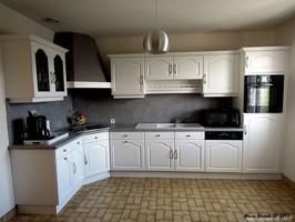 cuisine rénovée, cuisine remise a neuf, ambiance bois et patines